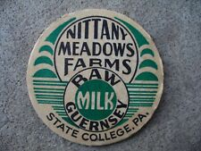 Nittany Meadows Farm Dairy Unused Milk Bottle Cap State College PA Centre County