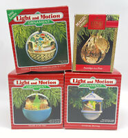 Vintage Hallmark Light and Motion Magic Keepsake Ornaments Christmas Lot Set