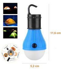 Linterna LED Tipo Bombilla - 3 Modos De Luz - Impermeable - Gancho Camping Casa