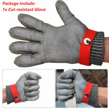 24CM length Stainless Wire Mesh Cut Proof Resistant Chain Mail Protective Glove