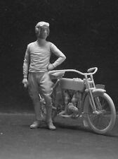 CIXMODELS 1:35 CixM008 MOTORCYCLE RIDER FIGURINO (NO RESICAST CRIEL BRACH)