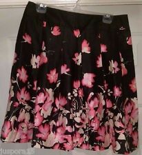 George NWT Woman's Black/Pink/Beige Floral Skirt Size 10