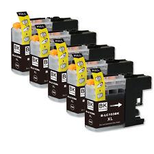 5 BLACK Ink Cartridge + chip fits Brother LC103 MFC-J285DW MFC-J470DW MFC-J475DW