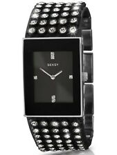 Ladies Seksy Watch 4854 With Black Dial Leather Strap