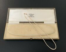 Antique Graduated Cultured Pearl Necklace 9ct Gold Clasp Presentation Boxed