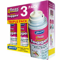 Johnsons 4Fleas Fogger 3 Cans - Flea Killer Bomb Household Spray Multipack AZ