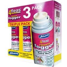 3 x Johnsons 4Fleas Flea Fogger - Home Flea Bomb - Multipack Value 3 Foggers