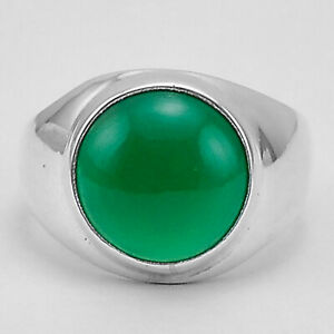 Green Onyx 925 Sterling Silver Plated Ring Jewelry s.8 MR01335