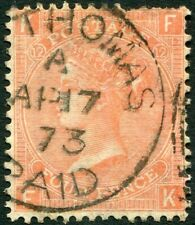 More details for 1865-67 4d vermilion plate 12 used in st thomas sg 93 fine used v86321