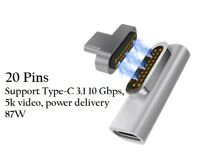 Type-C PD Magnetic Adapter, Fast Charge & Data (10Gbp/s) 87W 4.3A20V Dell HP