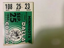 1966 Dallas Cowboys vs Minnesota Vikings NFL Football Ticket Stub GOOD Condition