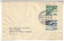 1955 Santiago Chile, Airmail to Overland Park KS, #C178-C179