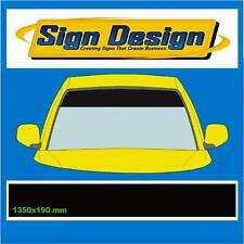 Negro Mate sunstrip ajuste del asiento de coche calcomanías gráficos pegatinas