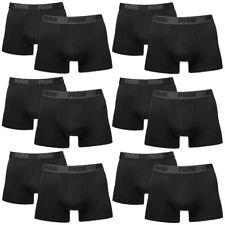 12 en Paquete Puma Bóxer shorts/Negro/tamaño S / ropa interior hombre