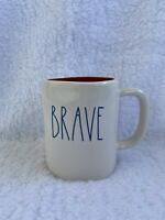 NEW RAE DUNN LL BRAVE MUG WITH Red Interior