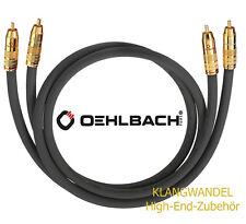 OEHLBACH NF 214 Master 50 Set 2x0,5m High-End Cinchkabel anthrazit  NEU 2045