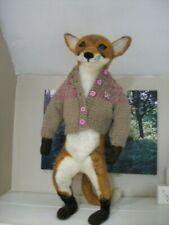 Fox cub - Ooak artists fox cub girl. Fox cub in her cardigan.