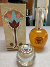 Avon Queens Gold cologne spray and cream sachet full new product