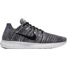Nike Free RN Flyknit Mens Running Shoes 11 White Black 831069 100 Oreo