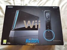 Nintendo Wii Console Wii Sports Resort Pack Black Boxed