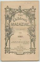June 1867 The Childrens Magazine Protestant Episcopal Church Book New York