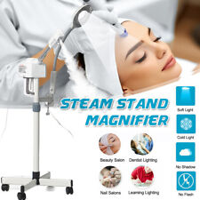 Steam Stand Magnifier Beauty LED Light Lamp Nails Salon Tool Makeup Skin Care