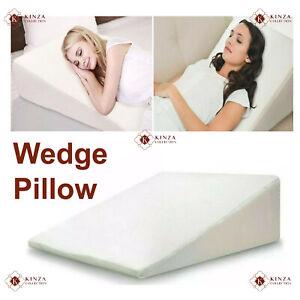 LARGE Orthologics Beds Wedge Pillow Raised Acid Reflux GERD Memory Foam Back