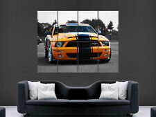 ORANGE FORD SHELBY GT 500 MUSCLECAR  WALL POSTER ART PICTURE PRINT LARGE