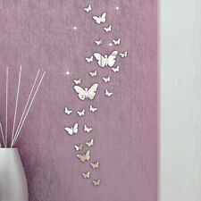 30PC Butterfly Combination 3D Mirror Wall Stickers Home Decoration DIY Tide
