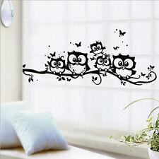 Stylish Owl Cartoon Wall Sticker Removable Art Vinyl Decal Kids Room Home Decor