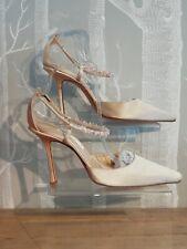 Jimmy Choo Zapatos Sandalias de satén crema-UE tamaño 39.5 UK Size 6.5. nupcial,