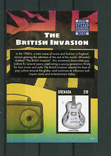 Grenada 2015 MNH British Invasion Europhilex London 1v S/S Electric Guitar