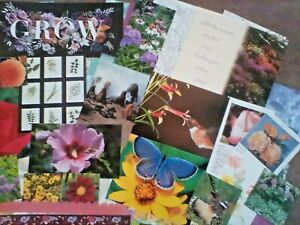 Junk journal supplies, 150 Nature theme papers, book pages, ephemera, etc