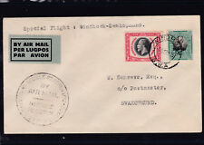 1935 Spezialflug Windhoek - Swakopmund in Südafrika mit Ankunftstempel