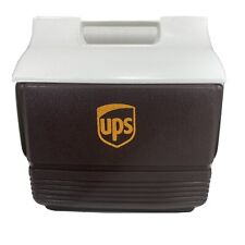 New listing Rare! Ups Igloo Playmate Mini Cooler Brown & White with Logo Made In Usa