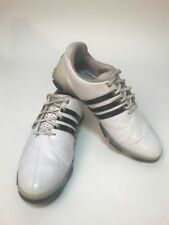 Adidas Tour 360 Men's Golf Shoes Size 11.5 Cleats Leather White & Black