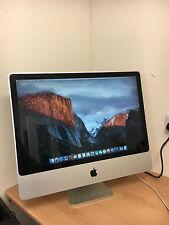 """Apple iMac 24"""" Intel Core 2 Duo 3.06GHz 4 Go 500 Go El Capitan Ordinateur de Bureau UK"""