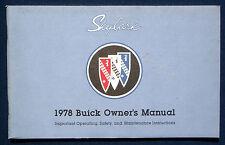 Owner's Manual * Betriebsanleitung 1978 Buick Skylark (USA)
