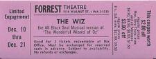 """Stephanie Mills """"THE WIZ"""" Tiger Haynes / Dee Dee Bridgewater 1974 Tryout Ticket"""