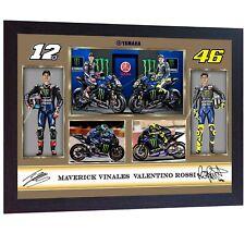 NEW Valentino Rossi Maverick Vinales signed autographed poster photo FRAMED