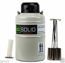 3 L Liquid Nitrogen Cryogenic Container Tank Dewar 6 Canisters U.S.Solid 25 days