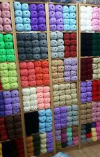 WHOLESALE JOB LOT 50 balls of hand knitting WOOL yarn SALE NEW FABULOUS ~# 100g