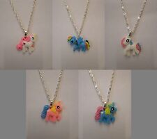 "My Little Pony Horse Pendant With 18"" Silver Plated Necklace"