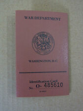 US ARMY WW2 GI Soldier's Identification card / Truppen Ausweis War department