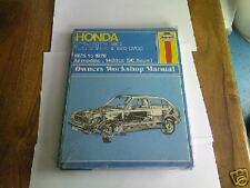 HONDA CIVIC 1500 & CVCC 1975-76' HAYNES MANUAL NEW!!