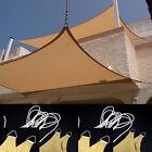 New MTN 24'x24' Sand Deluxe Rectangle Square Sun Sail Shade Patio Garden Gazebo