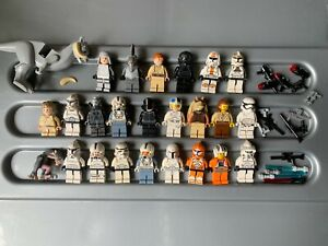 LEGO BULK LOT OF STAR WARS FIGURES & ACCESSORIES , GENUINE MINIFIGURES. X25