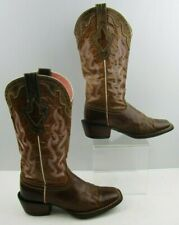 Ladies Ariat Brown Leather Western Cowgirl Boots Size : 6.5 B