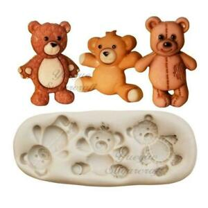 Details about  /DIY Bear Silicone Fondant Mold Cake Decorating Chocolate Sugarcraft Mold Tool US