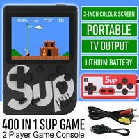 SUP Retro Mini Handheld Video Game Console Gameboy Built-in 400 Classic Games UK